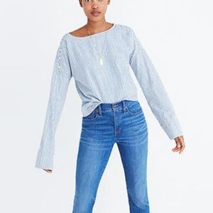 🚘MOVING🚘 Madewell Blue Cold-Shoulder Top XS